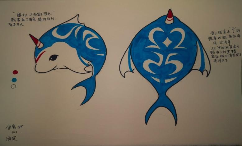 吉祥物形象设计——海亮实验中学献礼海亮教育25周年