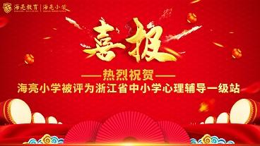 海亮小学被评为浙江省中小学心理辅导一级站